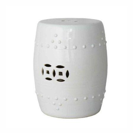 Amazon.com: Ceramic White Garden Stool: Patio, Lawn & Garden