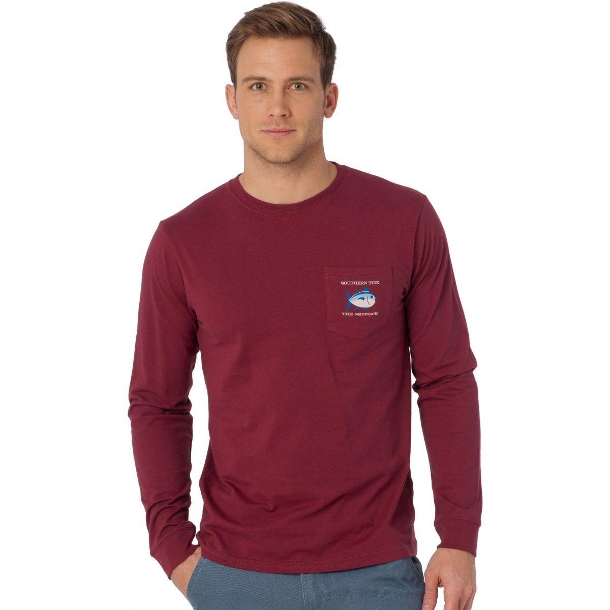 Original Skipjack Long Sleeve Pocket T Shirt New Long Sleeve