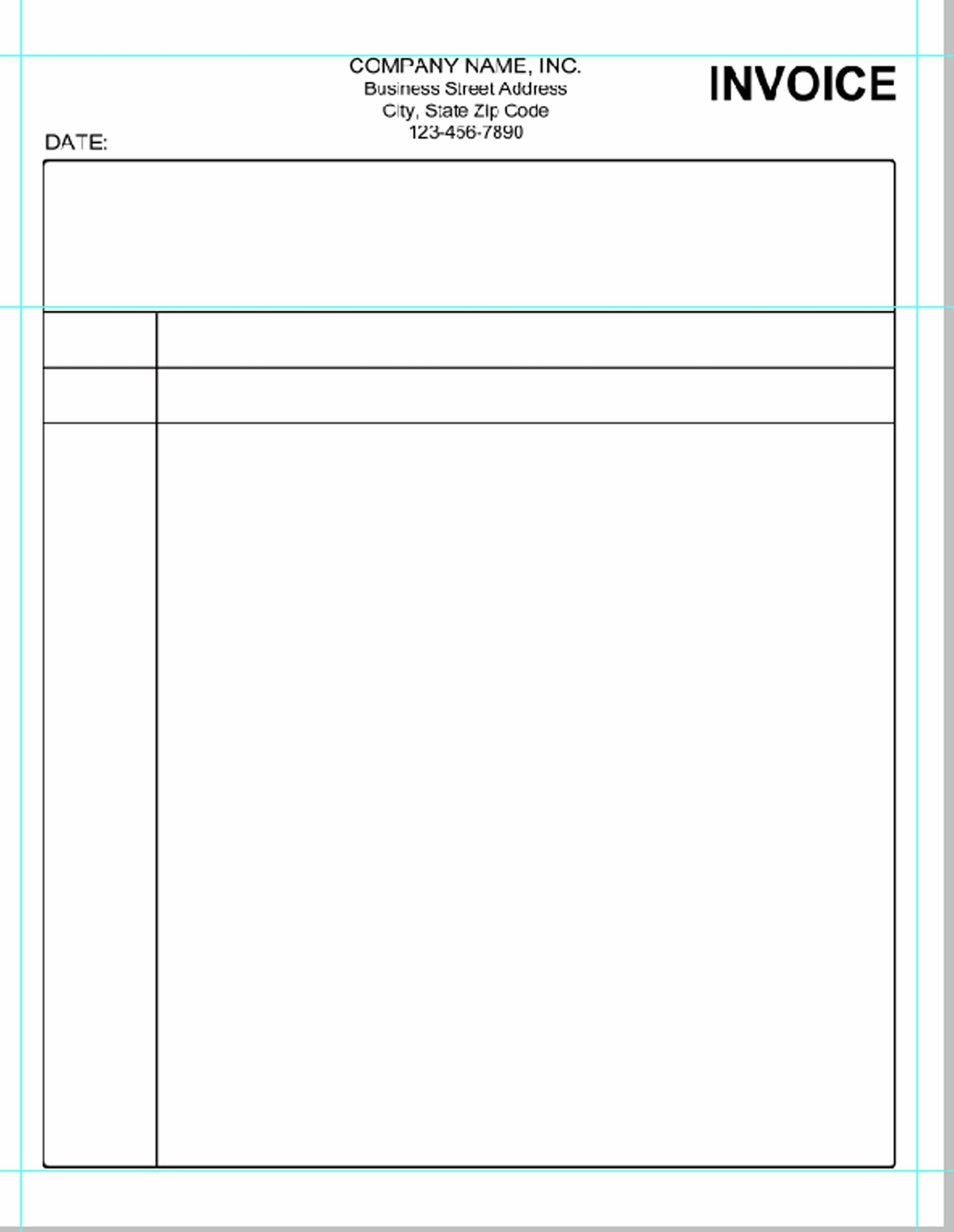 Blank Invoice Template Microsoft Word Invoice Template Free Simple Invoice Template