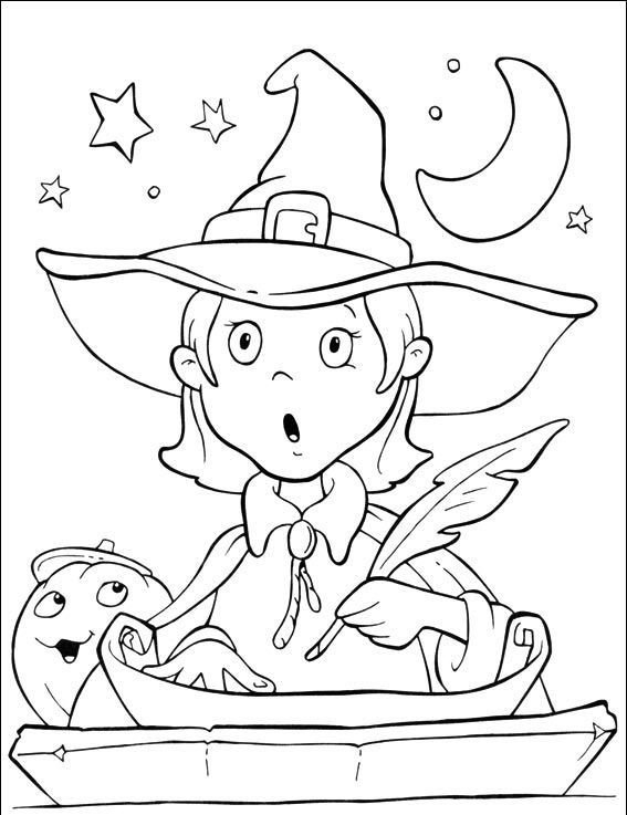 Witch Coloring Page For Kids 2 Imagens De Halloween Para