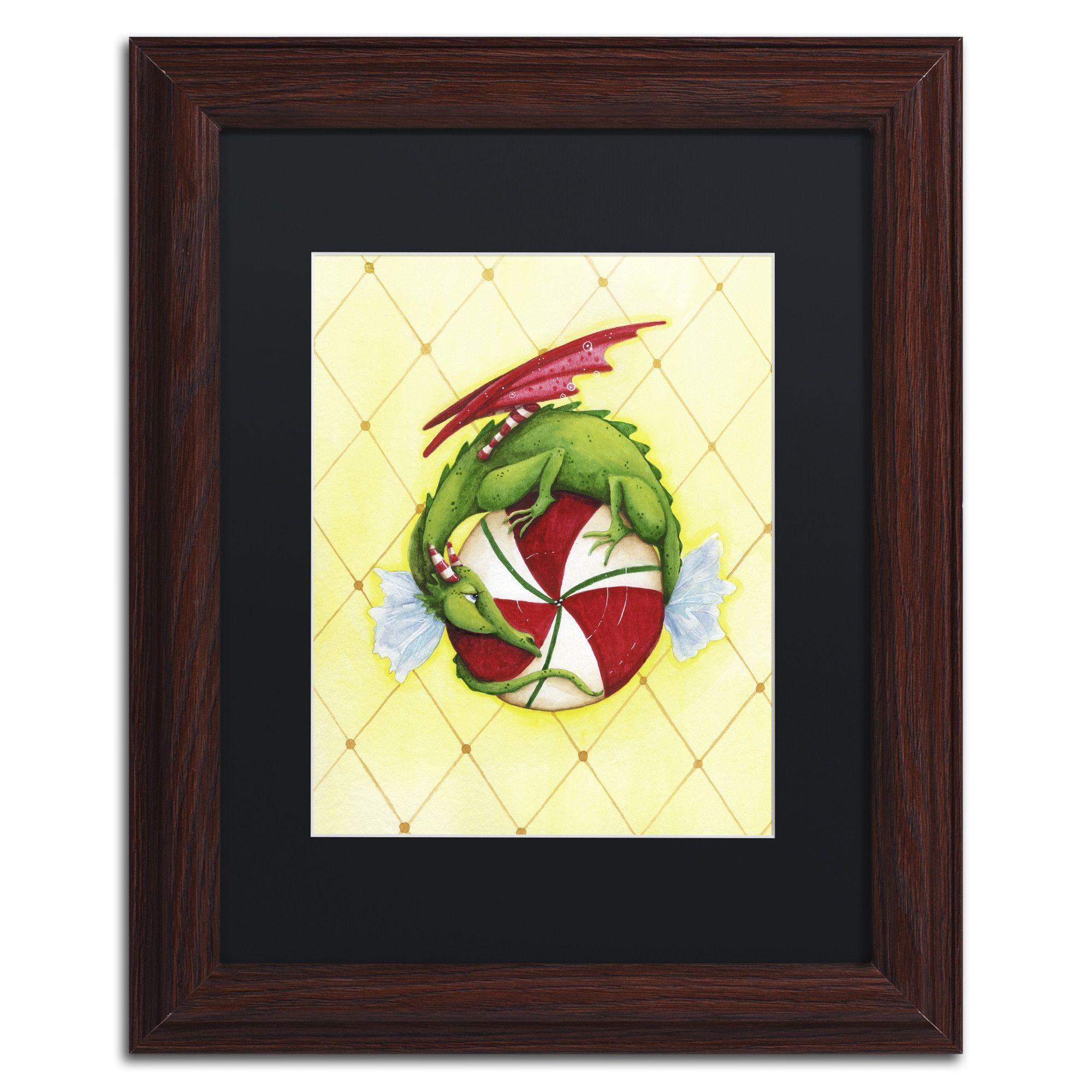 Jennifer Nilsson \'Peppermint Twist Dragon\' Matted Framed Art ...