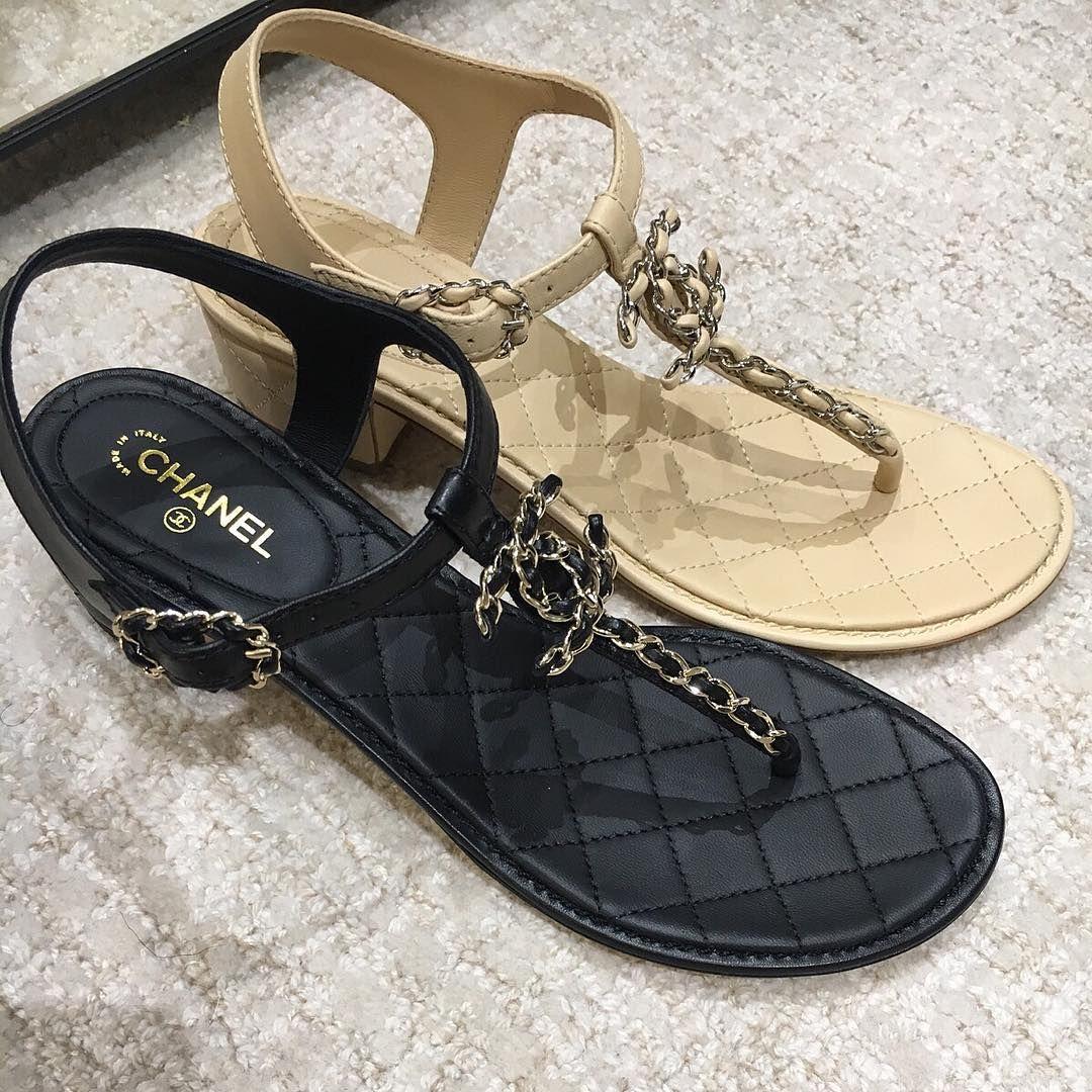 0ba99005c 690€ Chanel sandals black beige color spring summer 2016 collection ...