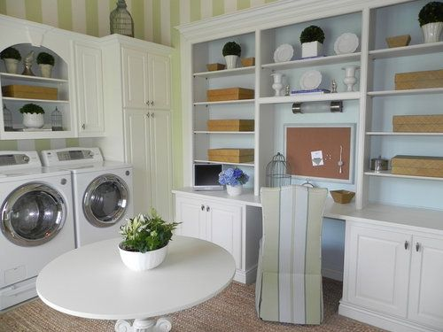 How To Create An Office In A Laundry Room Custom Laundry Room Laundry Room Design Laundry Room Decor