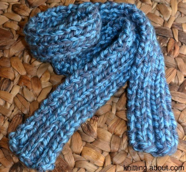 Learn How To Knit A Farrow Rib Scarf Scarves Yarns And Crotchet