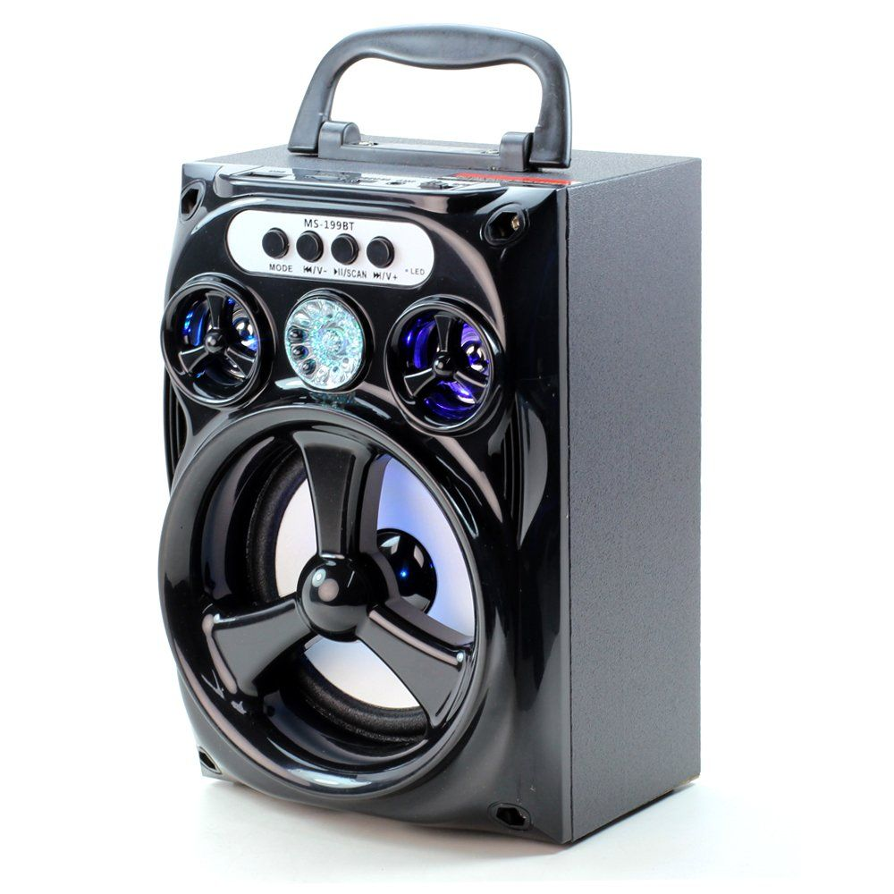 944e3efd03 Mobile MultiMedia Bluetooth Speakers Wireless Sub-woofer Portable Stereo  with LED flash lights Magic Box shape Outdoor and Indoor Speaker Hand-free  for ...