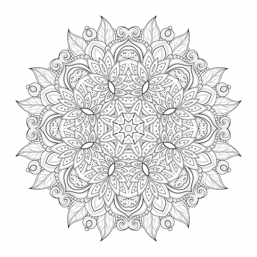 Pin On Advanced Flower Coloring Pages