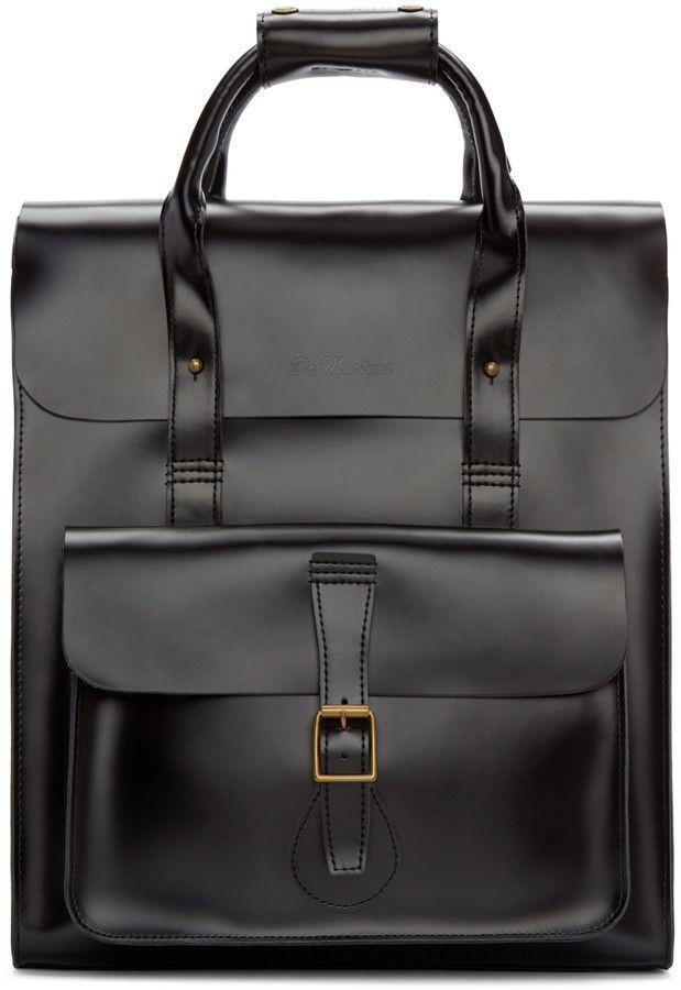 Verwonderend Dr. Martens Black Leather Backpack | Wal, Briefe SG-14