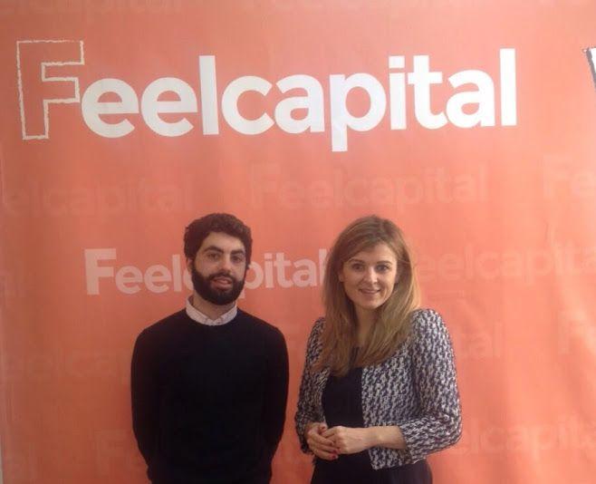Irene López de Deutsche Bank con nuestro analista Diego