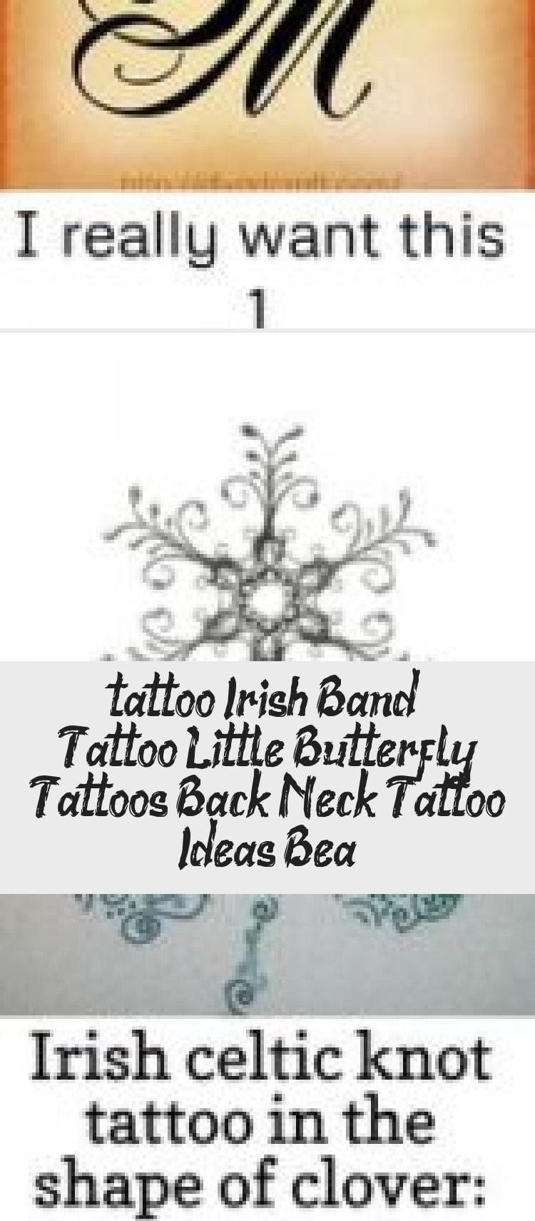 Photo of #tattoo Irish Band Tattoo, Kleine Schmetterlings-Tattoos, Tattoo-Ideen für den Nacken, Bea… – Tattoos und Körperkunst