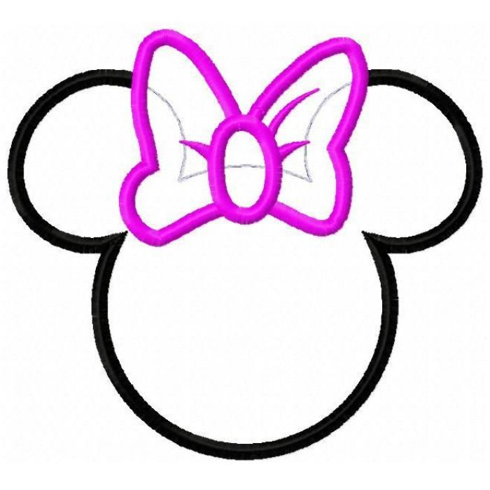 Minnie Mouse Head Silhouette Mickey Mouse Silhouette Minnie Mouse Printables Minnie Mouse Template