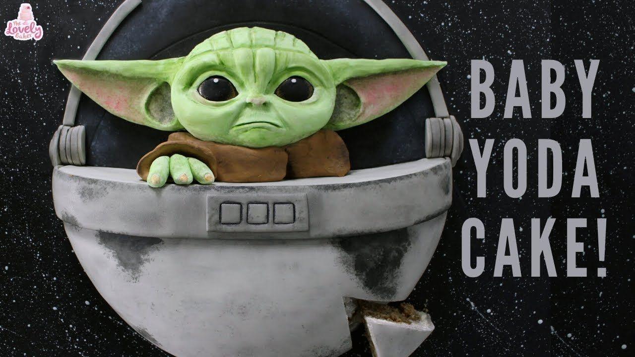 Baby yoda the mandalorian cake tutorial star wars cakes