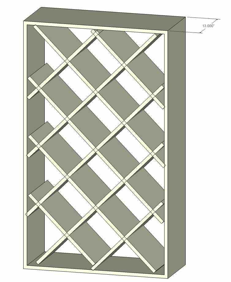 Diamond Shaped Wine Rack Construction Wine Rack Plans Built In Wine Rack Wine Rack Cabinet