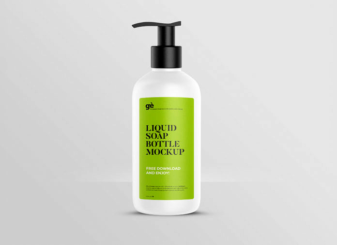 Free Hand Sanitizer Liquid Soap Bottle Mockup Package Mockups In 2021 Bottle Mockup Bottle Packaging Mockup
