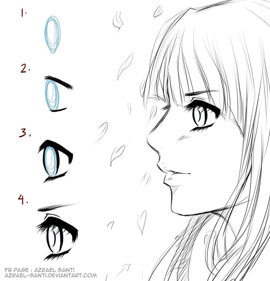 Anime Eyes In Side View Byazrael Santi · Anime Eyeshow To Draw
