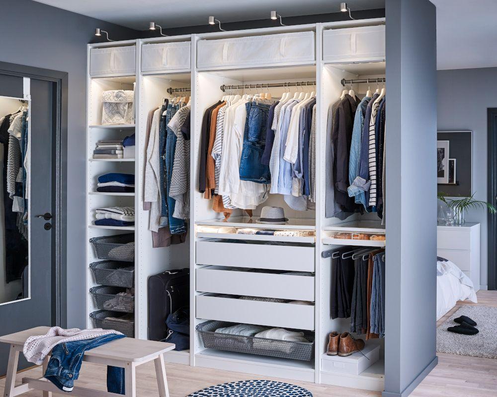 Przechowywanie W Sypialni Szafy Ikea Closet W 2019