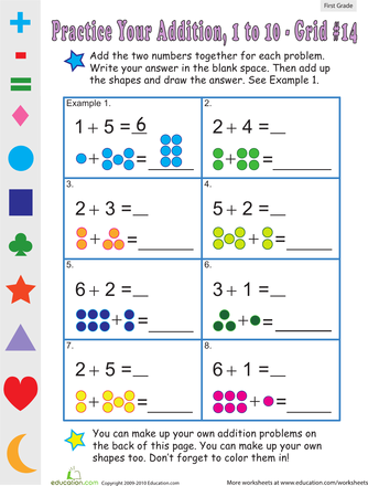 It\'s addition all around with these printable 1st grade addition ...