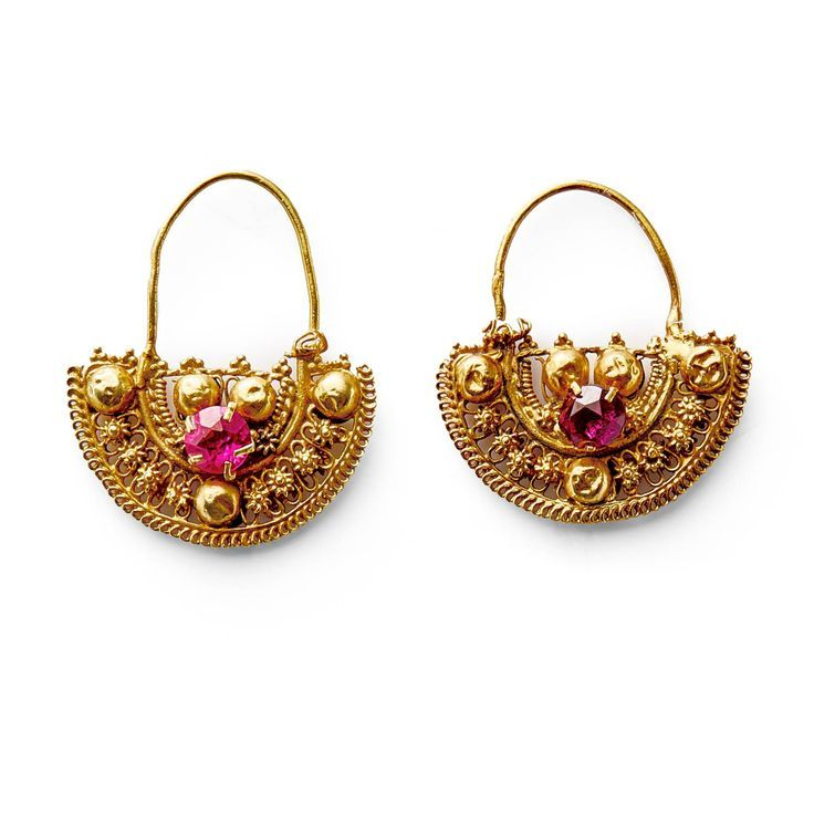 Image result for turkish pitcher and cup earrings Etruscan