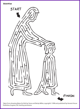 hannah prayer coloring pages - hannah gives her child to god story and maze kids