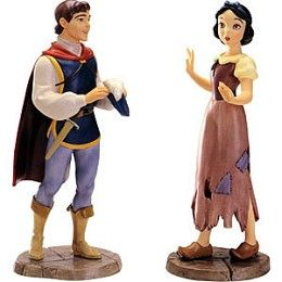 WDCC Disney Classics Snow White And Prince I'm Wishing For The One I Love #WDCCDisneyClassics #Art.  Prince's Dagger: Pewter. Two-figure set featuring Snow White (in her rags) when she meets the Prince for the first time. Retired 03/00.