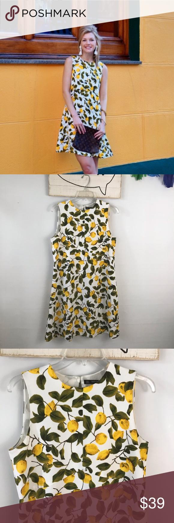 Zara Lemon Print Dress Lemon Print Dress Print Dress Lemon Print [ 1740 x 580 Pixel ]