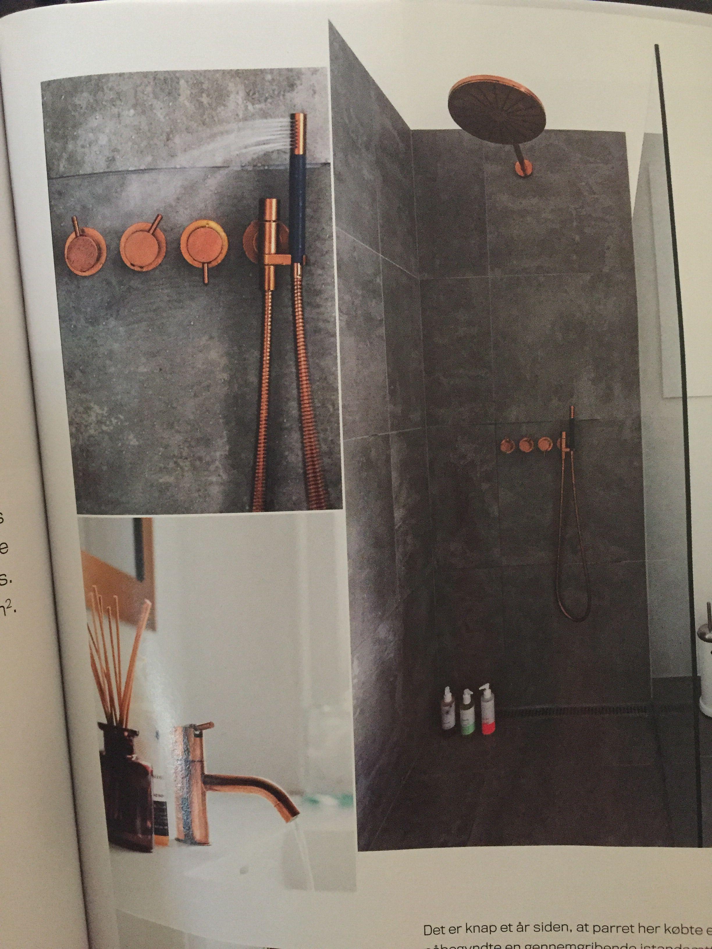 Kobber armaturer fra Vola Bath room Pinterest