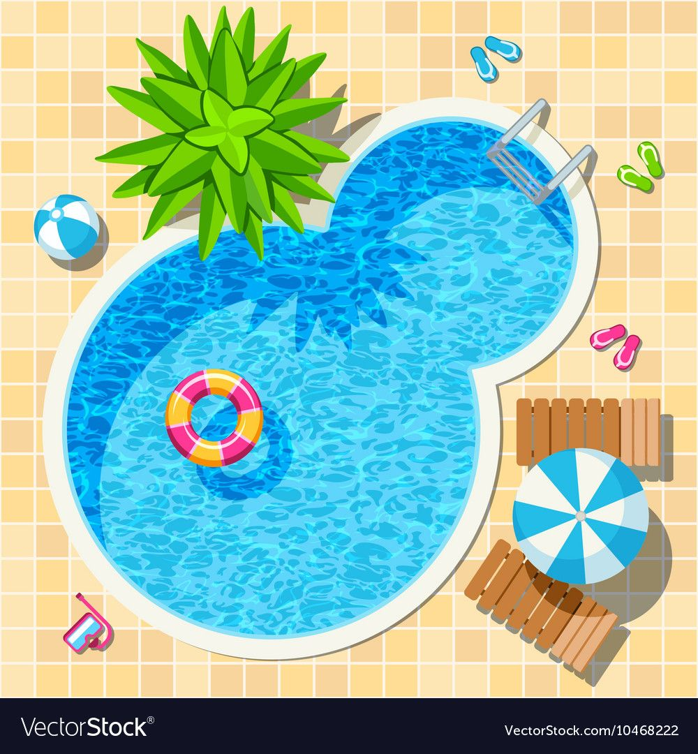 Top View Relax Swimming Pool Royalty Free Vector Image Swimming Pools Pool Eid Stickers