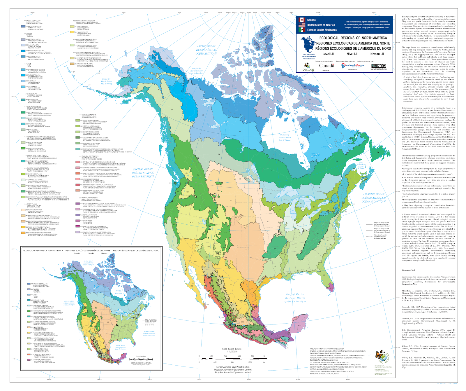 ecological map of north america (level ). ecological map of north america (level )  north america  pinterest