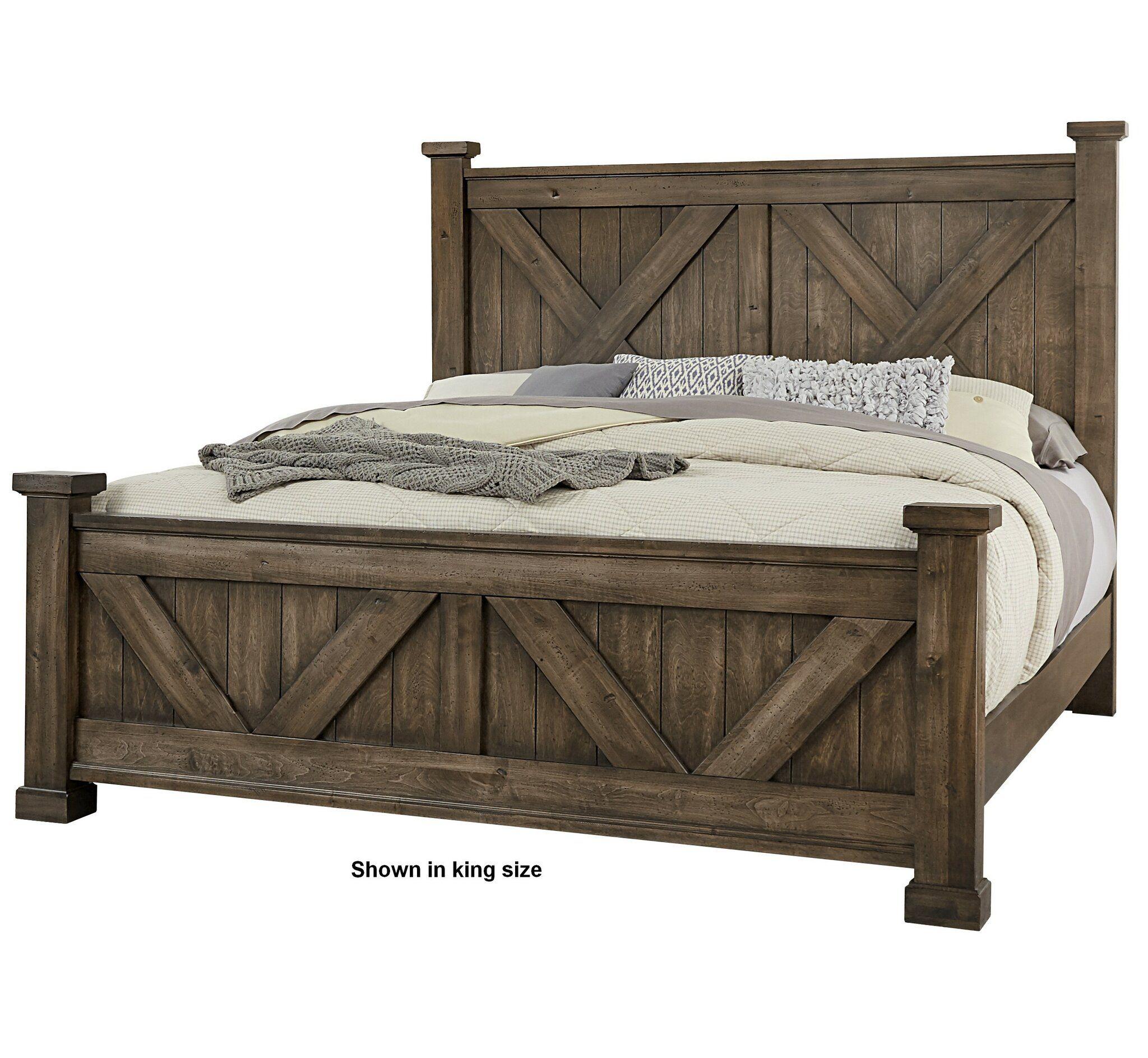 Gracie Oaks Karina Panel Headboard Wayfair In 2020 Rustic Queen Bed Farmhouse Bed Frame Diy Farmhouse Bed King