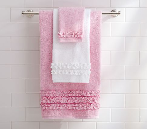Ruffle Bath Towel Ruffle Shower Curtains Pink Towels Towel