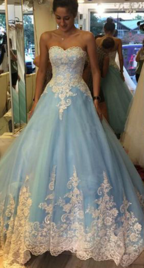 a9c960a1a6d Cinderella Light Blue Prom Dress