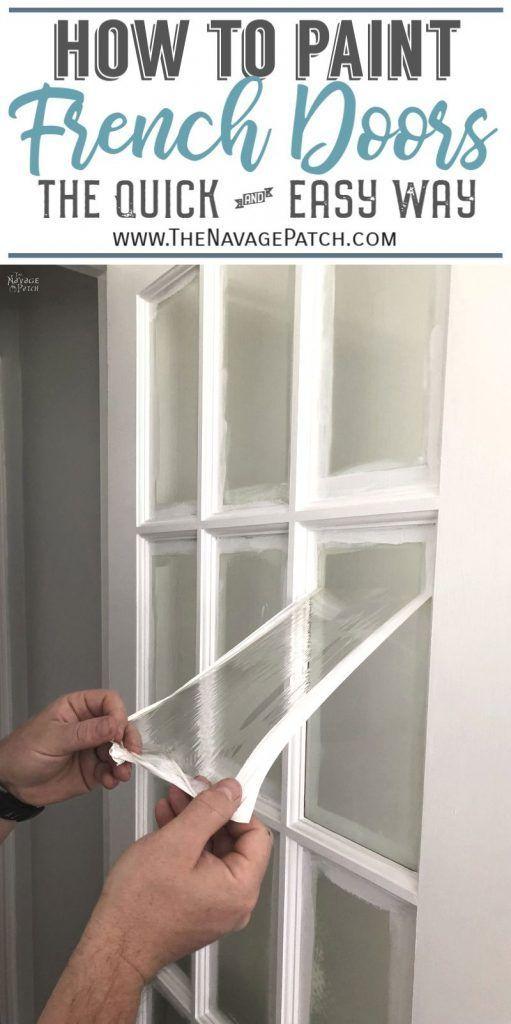 How To Paint French Doors The Easy Way Gl Panel Door Home Improvement