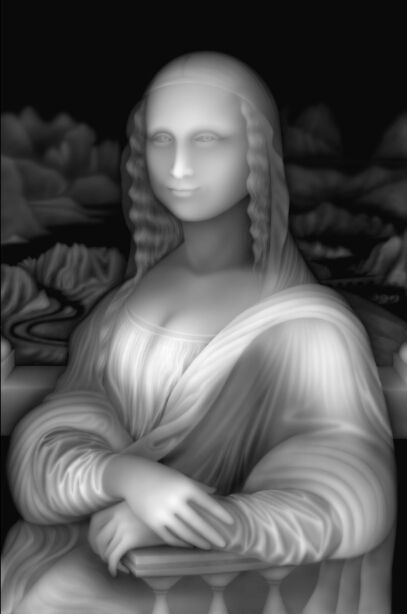 3d Model Relief Bmp Format Router 3 Axis Engraving File Mona Lisa