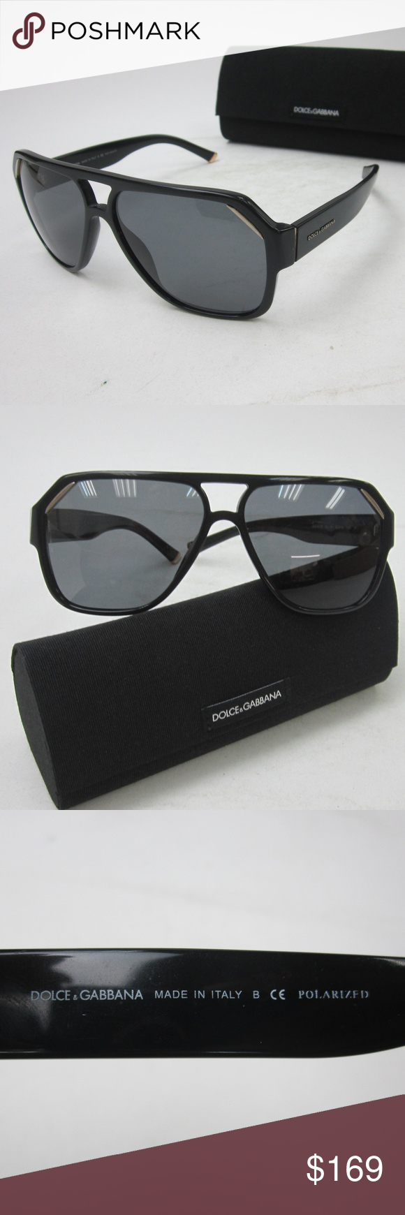 4c7ed00dafe6 Dolce   Gabbana DG4138 Men s Sunglasses OLN273 100% AUTHENTIC! Made in  Italy!