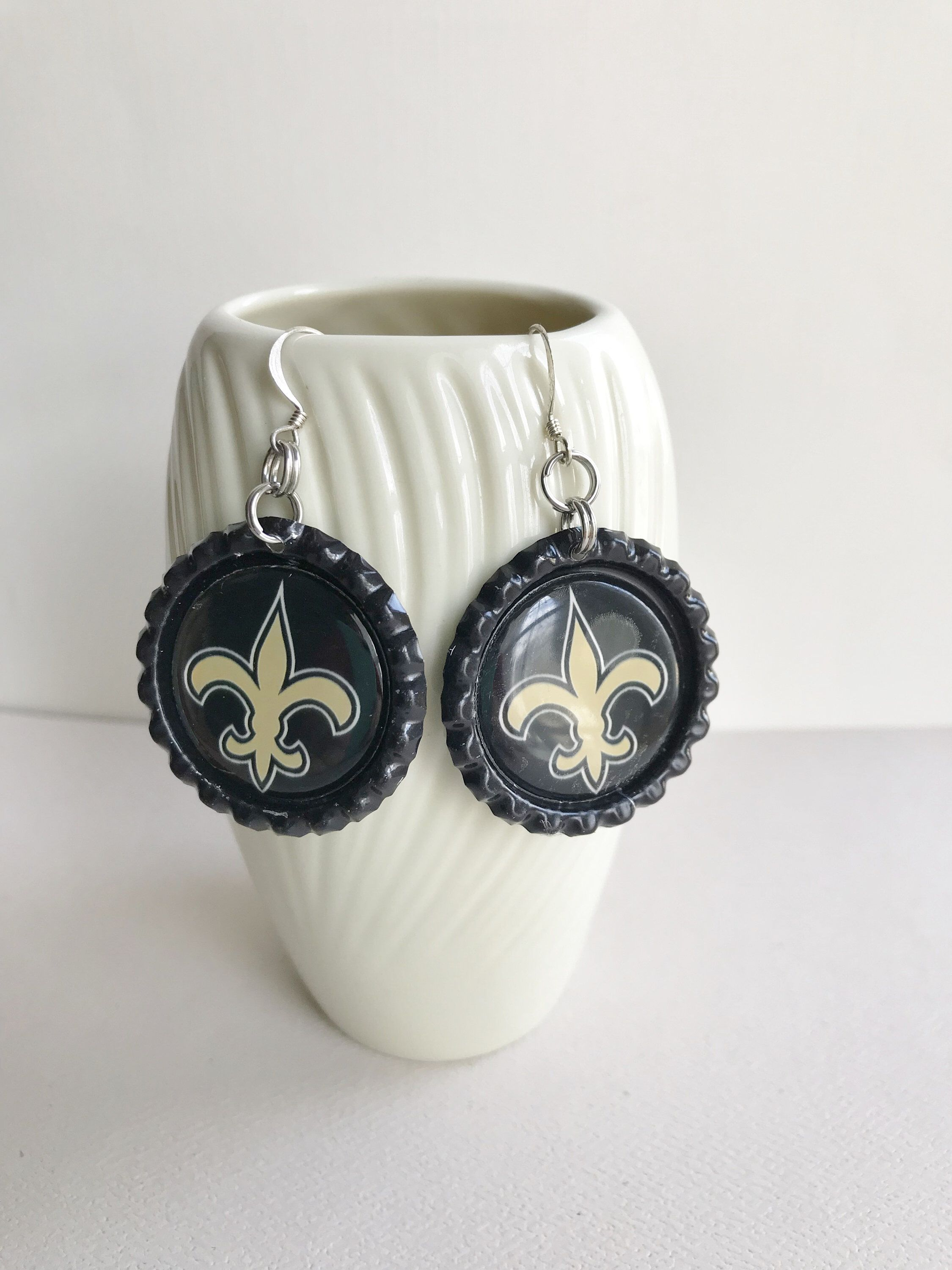 New Orleans Saints Jewerly : orleans, saints, jewerly, Excited, Share, #etsy, Shop:, Orleans, Saints, Earrings,, Jewelry,, Orleans…, Saint, Football, Gifts