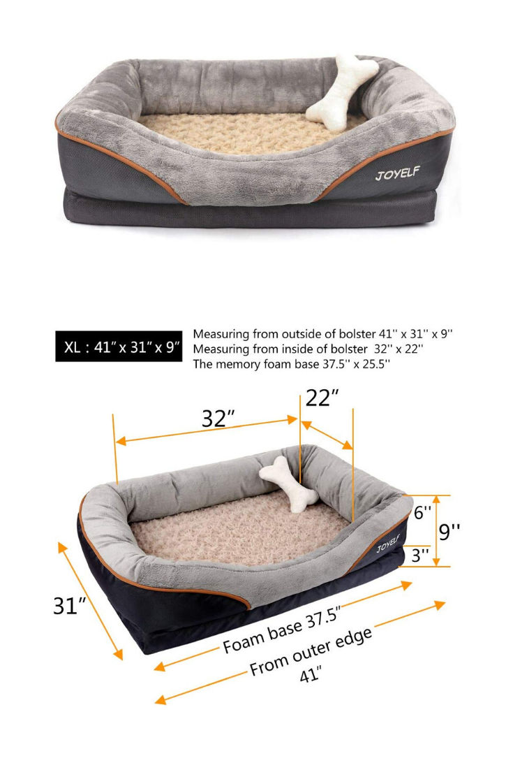 Orthopedic Dog Bed Memory Foam Pet Bed With Removable Washable Cover And Squeaker Toy As Gift Memory Foam Pet Bed Memory Foam Dog Bed Pet Bed
