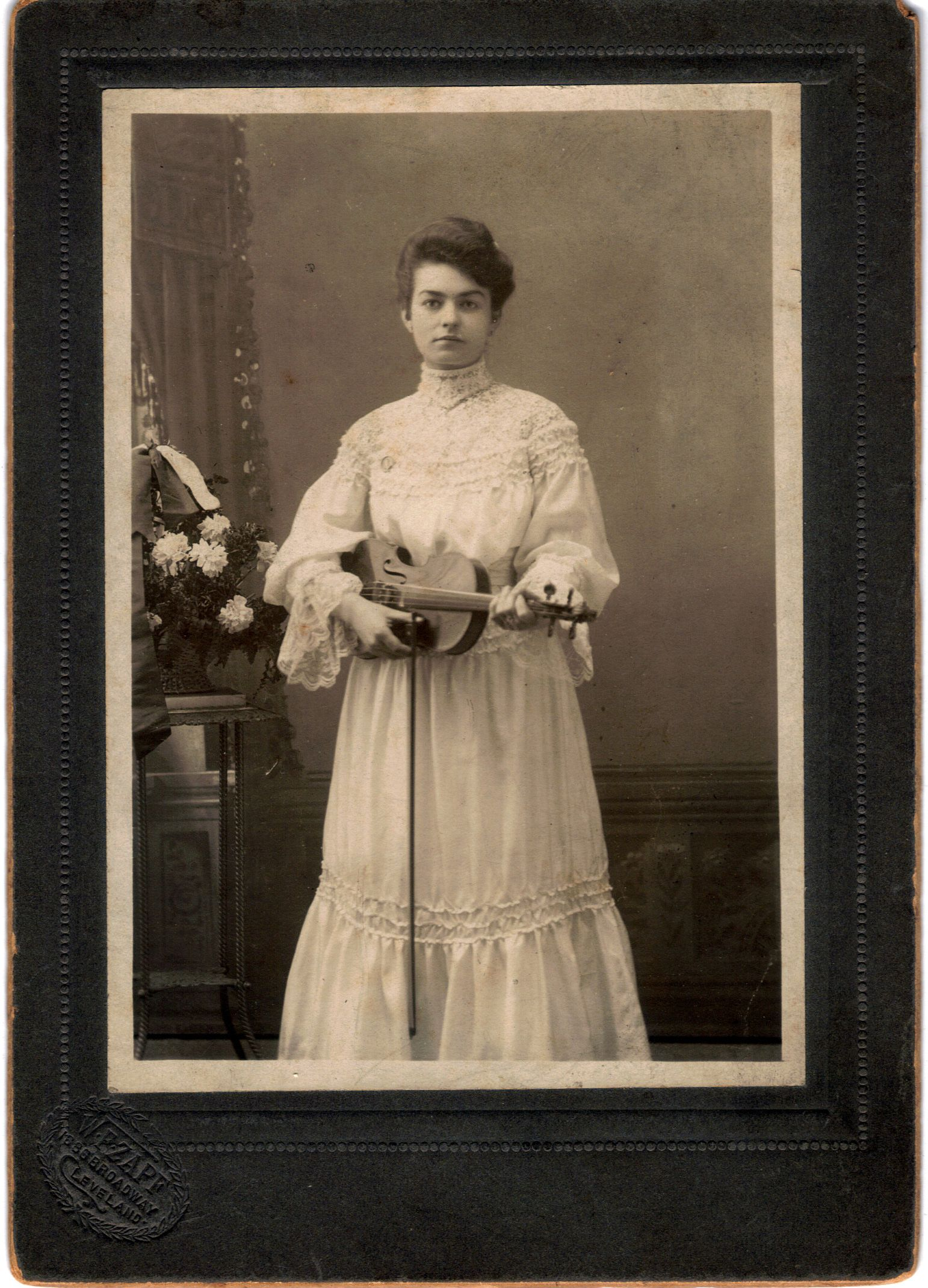 Vintage Photo Beautiful Czech Violinist Photo Vintage Photos