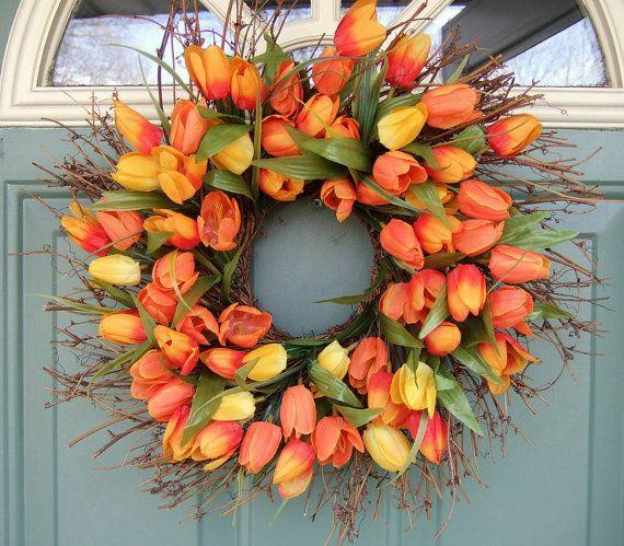 Spring Wreaths on Etsy - Laura Trevey Lifestyle Brand Wreaths