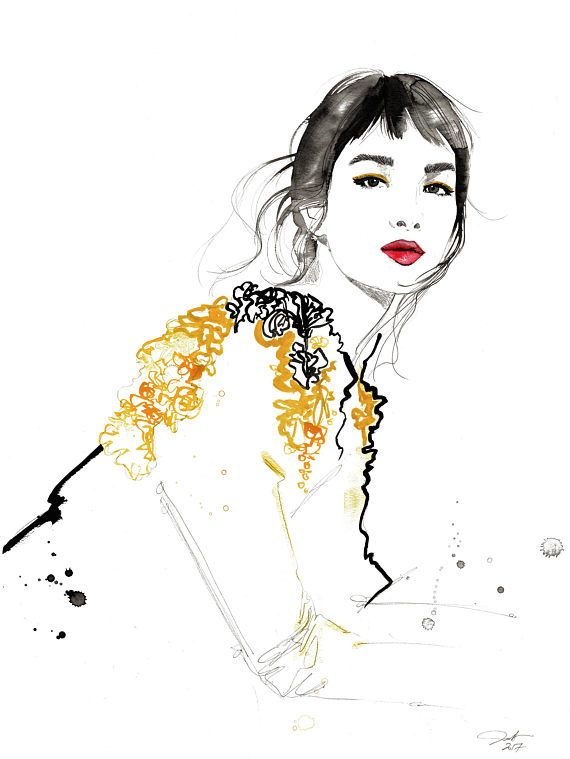 Jessica Durrant. Fashion illustration on Artluxe Designs. #artluxedesigns
