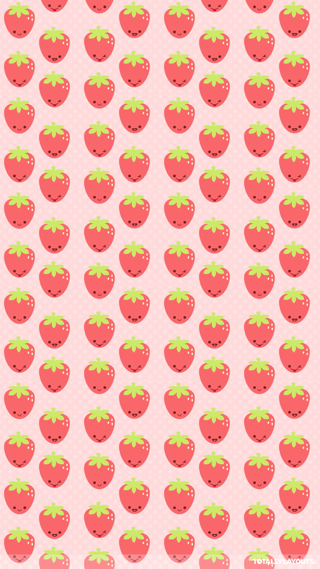 STRAWBERRIES IPHONE WALLPAPER BACKGROUND