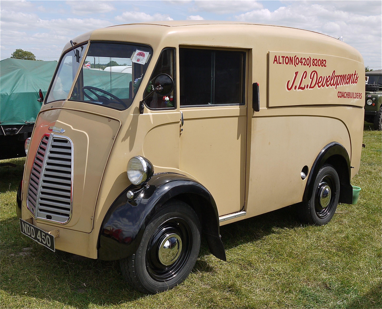 Morris JType Van1952 UK Vintage trucks, Classic trucks
