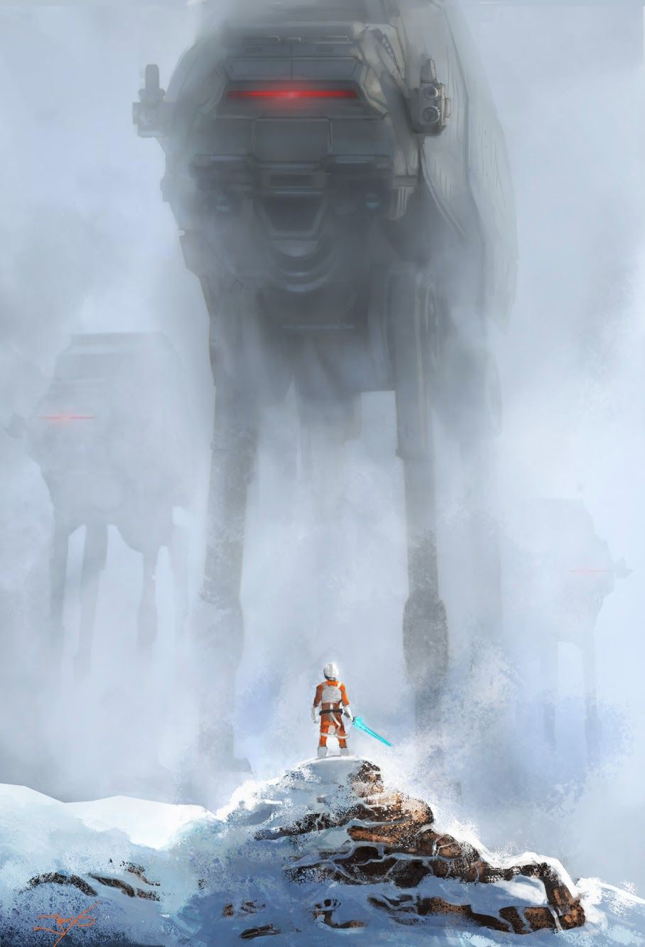 Planet Hoth Star Wars Art
