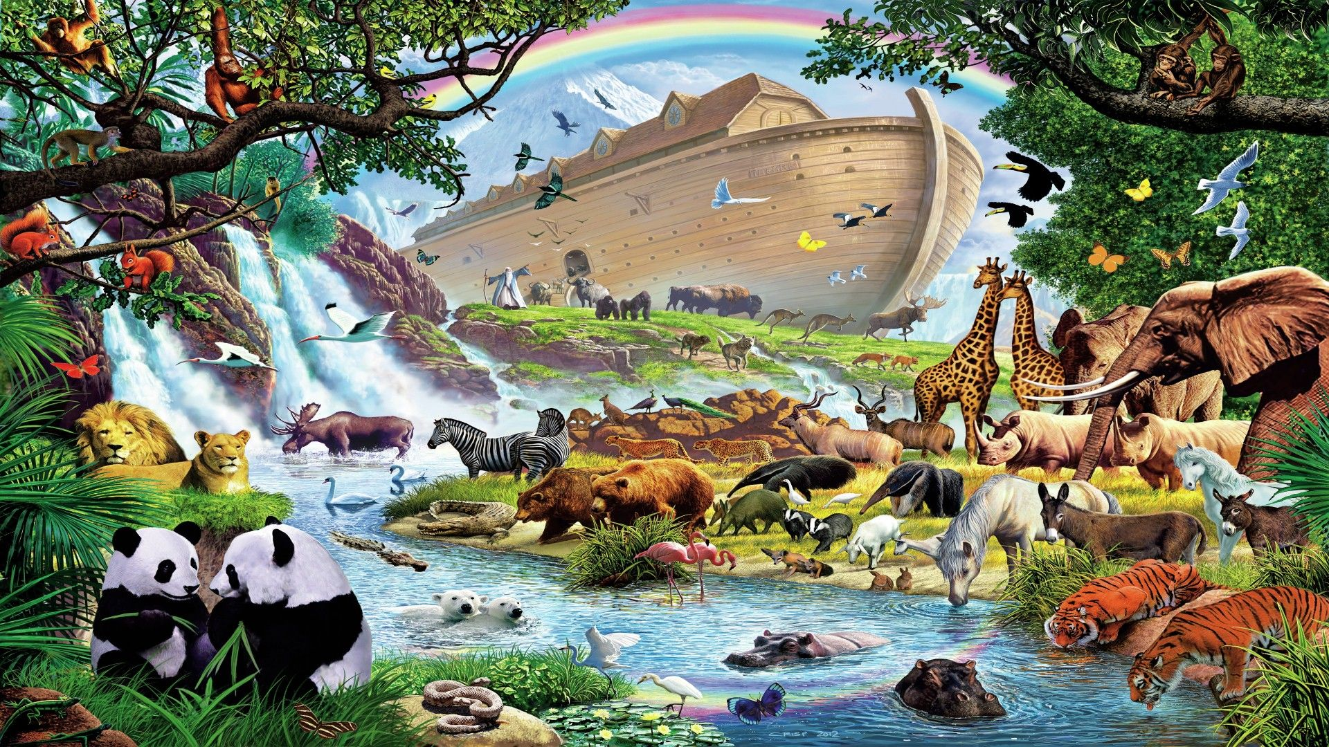 Image result for noah after flood
