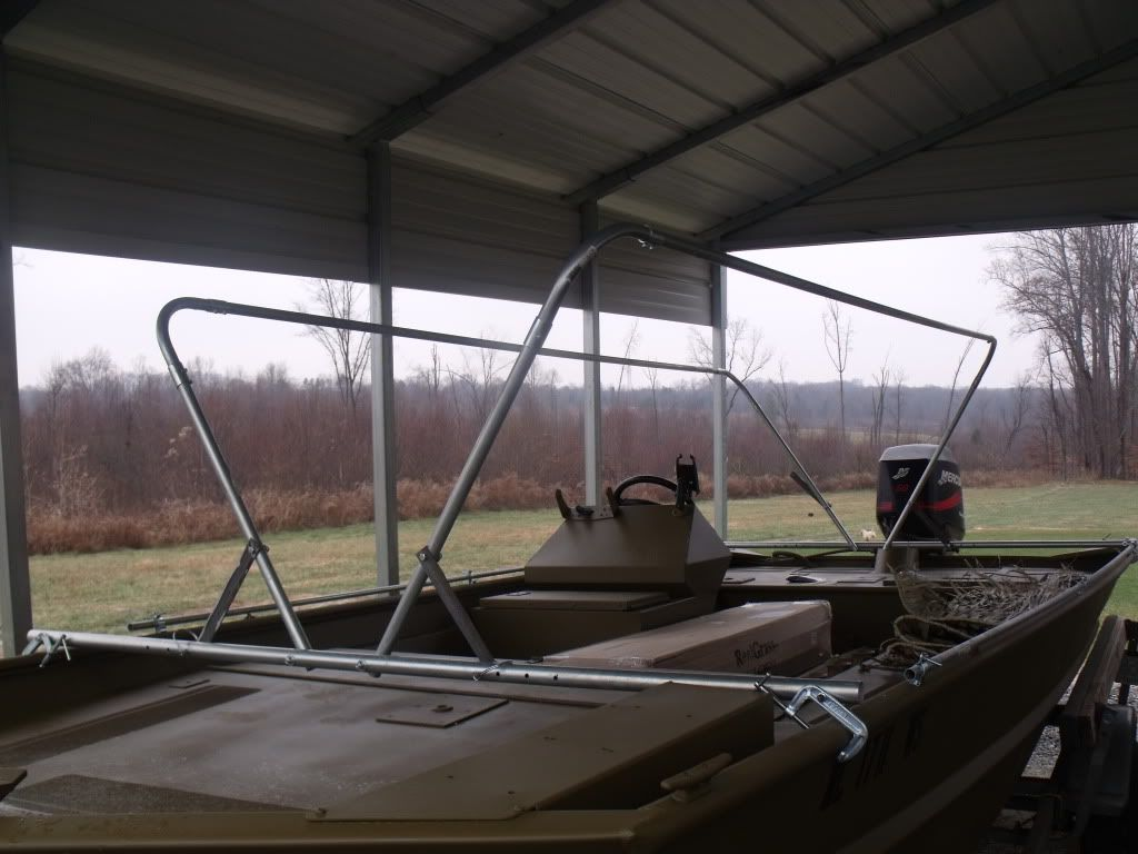 NC Duck Hunters • View topic - boat blind out of conduit ...