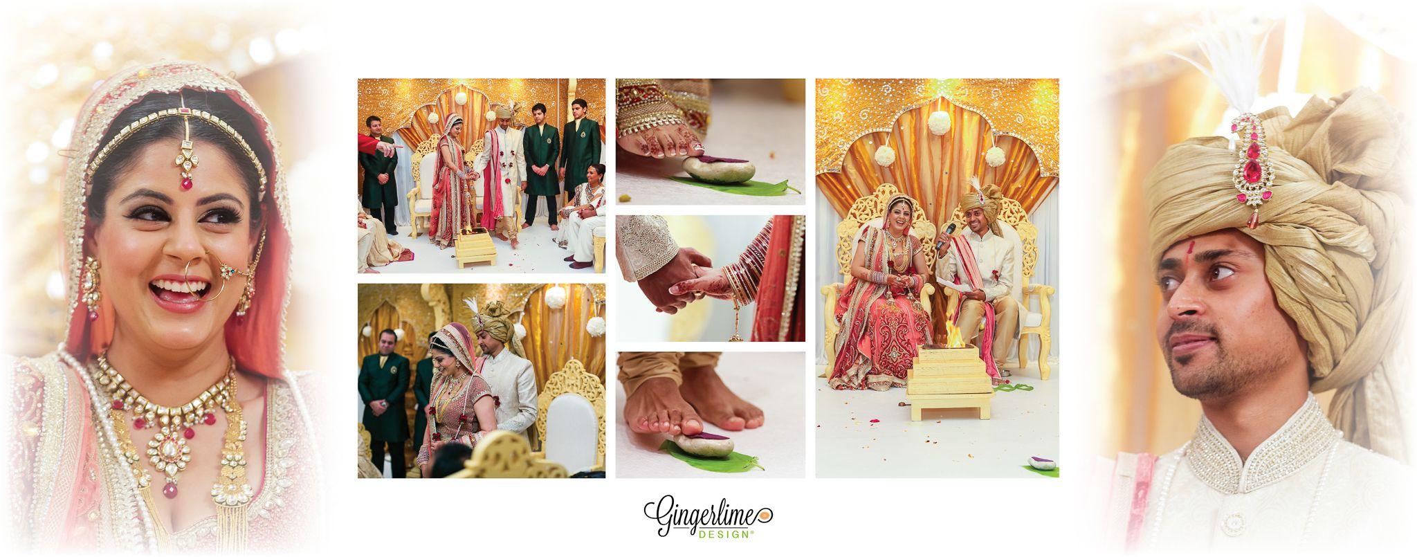 Bride And Groom Hindu Wedding Wedding Album Wedding Dress