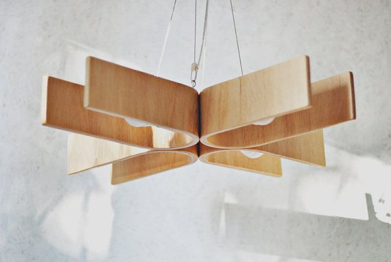 Hanging Lamp With Natural Wood Texture 28x28 Inches Plywood Chandelier Texture Bois Lampe Bois Lustre Moderne