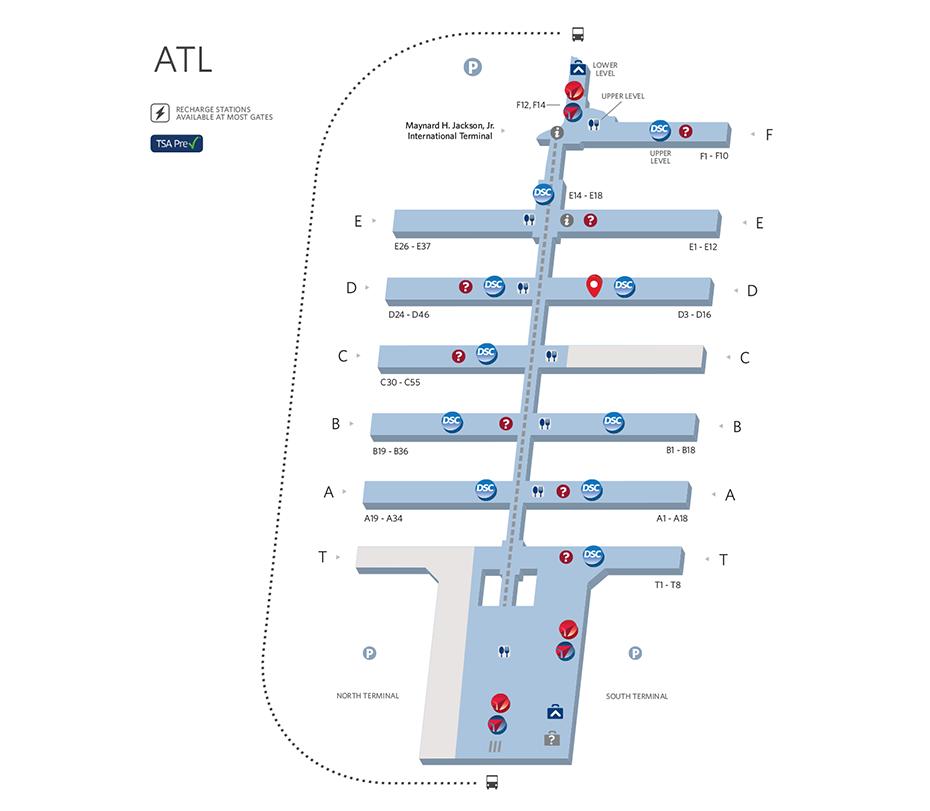Atlanta Airport Map | Our vacation in 2019 | Atlanta airport ...