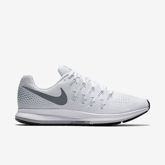 Nike Air Zoom Pegasus 33 Women s Running Shoe size   7.5 color  White Pure  Platinum Black Cool Grey 58b3750d6