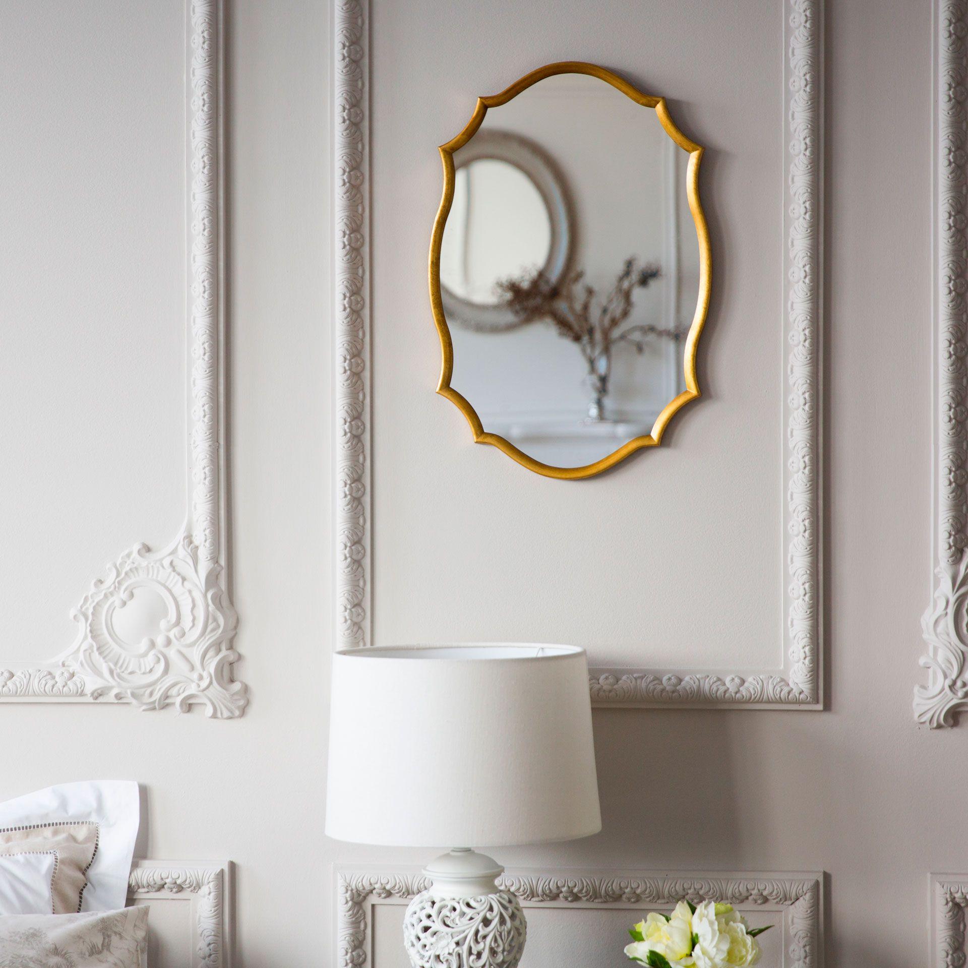 espejo perfil dorado espejos decoracin zara home mxico