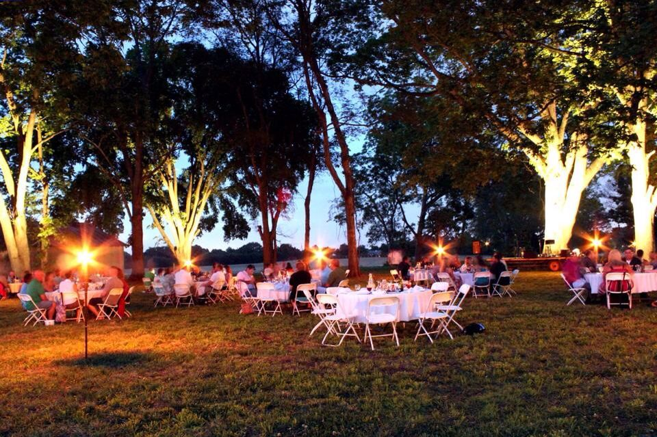 """LED lighting at """"Date Night at The Berry Patch""""."""