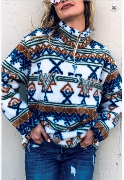 The Calgary - aztec pullover READY TO SHIP NOW